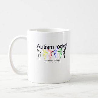 Autism rocks! coffee mug