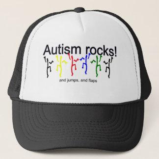 Autism rocks! trucker hat