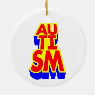 Autism Round Ceramic Decoration