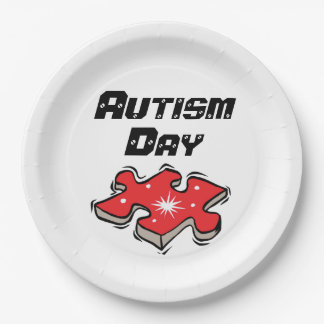 "Autism school/events Paper Plates 9"" 9 Inch Paper Plate"