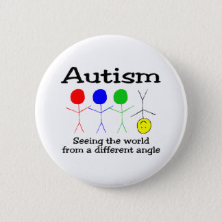 Autism Seeing The World From A Different Angle 6 Cm Round Badge