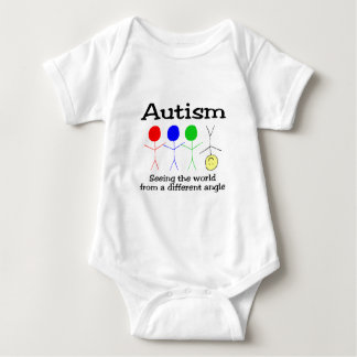 Autism Seeing The World From A Different Angle Baby Bodysuit