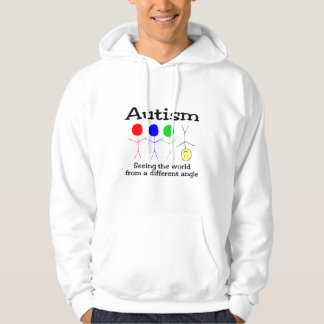 Autism Seeing The World From A Different Angle Hoodies