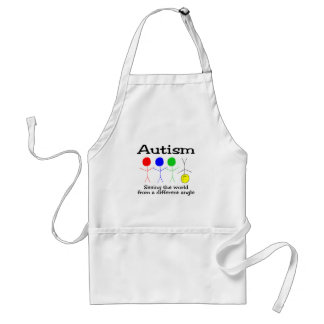 Autism Seeing The World From A Different Angle Standard Apron