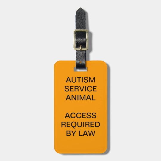 Autism Service Dog ID Badge Luggage Tag