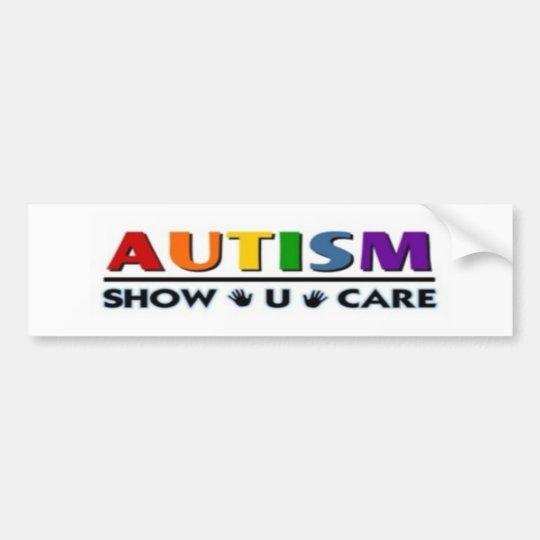 autism show u care bumper sticker