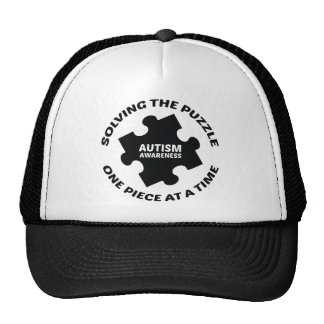 Autism : Solving The Puzzle One Piece At A Time Mesh Hats