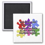 Autism Speaking Square Magnet