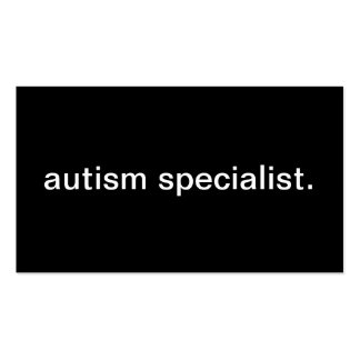 Autism Specialist Business Card Template