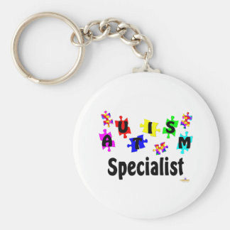 Autism Specialist Basic Round Button Key Ring