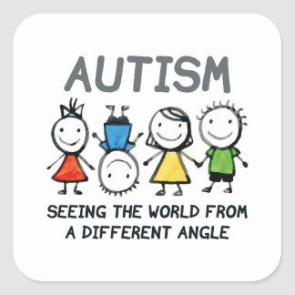 Autism Square Sticker