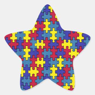 Autism Star Sticker