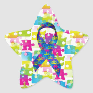 Autism Star Sticker