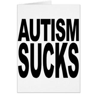 Autism Sucks Card