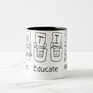 Autism: Support Educate Advocate Two-Tone Mug