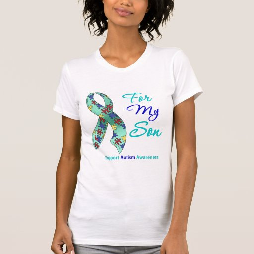 Autism Support For My Son Tees