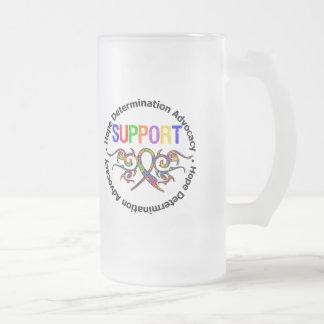 Autism Support Tribal Ribbon Mug