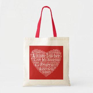 Autism Teacher Appreciation - Select Your Color Tote Bag
