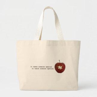 Autism Teacher Tote Bags
