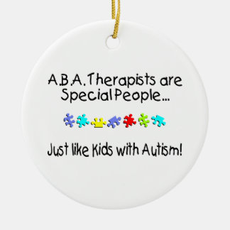 Autism Therapist Christmas Ornament
