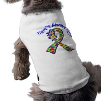 Autism There's Always Hope Floral Pet Tee Shirt