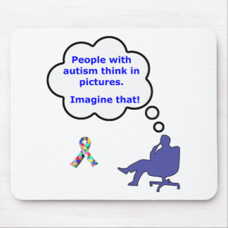 Autism/Think in Pictures Mouse Mat