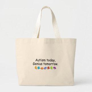 Autism Today Genius Tomorrow Large Tote Bag