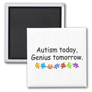 Autism Today Genius Tomorrow Magnet