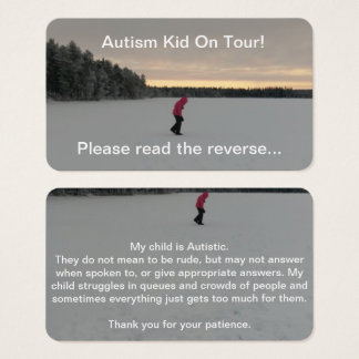 Autism Travel Cards