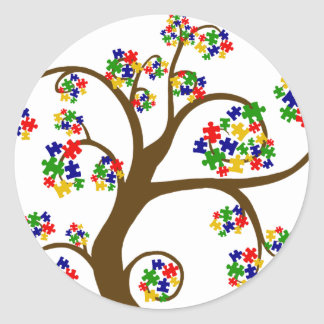 Autism Tree of Life Classic Round Sticker