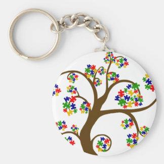 Autism Tree of Life Key Ring