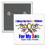 Autism Tribal Ribbon Son Badge