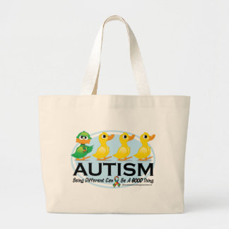 Autism Ugly Duckling Tote Bags