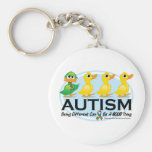 Autism Ugly Duckling Basic Round Button Key Ring