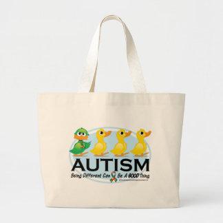 Autism Ugly Duckling Jumbo Tote Bag