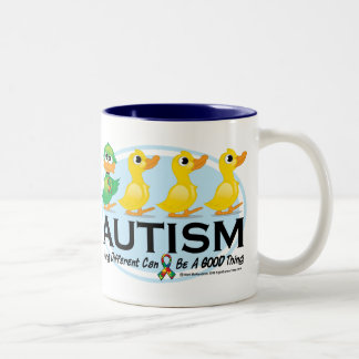 Autism Ugly Duckling Two-Tone Coffee Mug