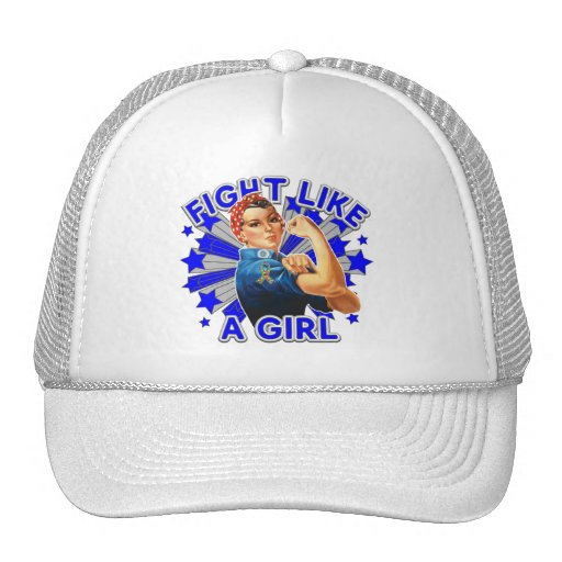 Autism Vintage Rosie Fight Like A Girl Trucker Hat