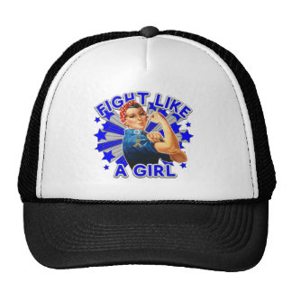 Autism Vintage Rosie Fight Like A Girl Trucker Hats
