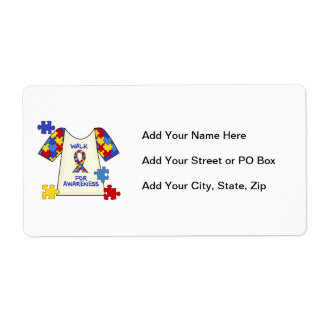 Autism Walk For Awareness Shipping Label