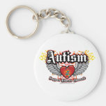 Autism Wings Basic Round Button Key Ring