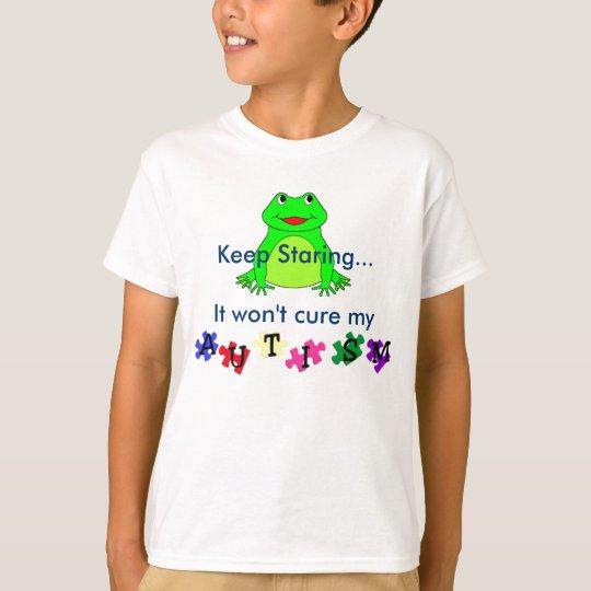 autismprimarywb, frog, Keep Staring...It won't ... T-Shirt