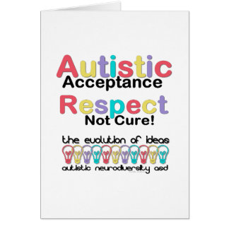 Autistic Acceptance Respect Not Cure Greeting Card