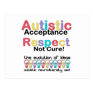 Autistic Acceptance Respect Not Cure Postcard