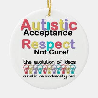 Autistic Acceptance Respect Not Cure Round Ceramic Decoration
