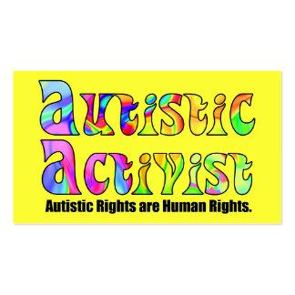 Autistic Activist (Color) Activist Cards Business Card Template