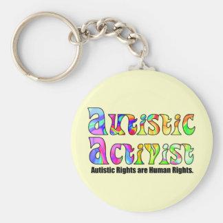 Autistic Activist (Color) Keychain