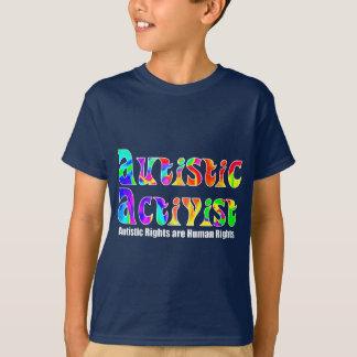 Autistic Activist (Color) Kids' Dark Shirts