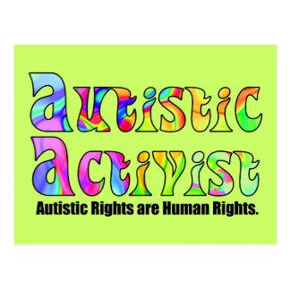 Autistic Activist (Color) Postcard