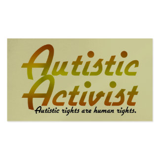 Autistic Activist (Gold) Activist Cards Pack Of Standard Business Cards