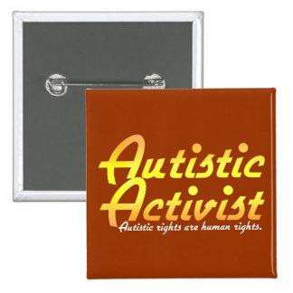 Autistic Activist (Gold) Buttons